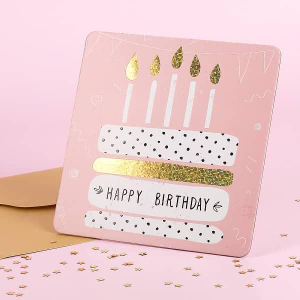 Stand-Up-Geburtstagskarte - Birthdaytorte