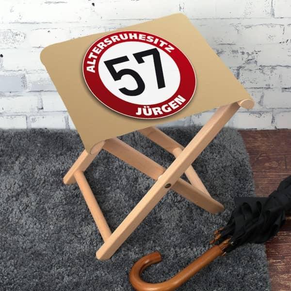 Individuellwohnzubehör - Klappstuhl zum Geburtstag Altersruhesitz - Onlineshop Geschenke online.de