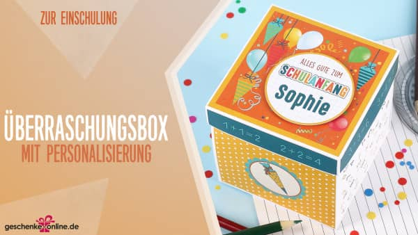 Überraschungsbox zur Einschulung für Geldgeschenke oder Gutscheine