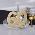 Goldene Dekozahl 60 - zum Geburtstag