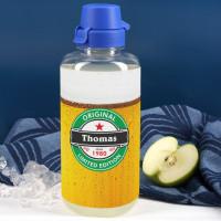 1 Liter Trinkflasche mit Biermotiv zum Geburtstag