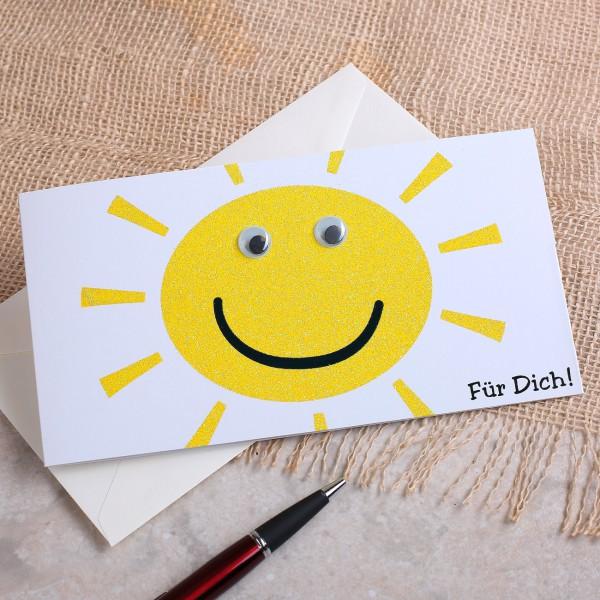 Grußkarte Sonne für Dich