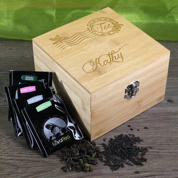 Teebox mit Gravur