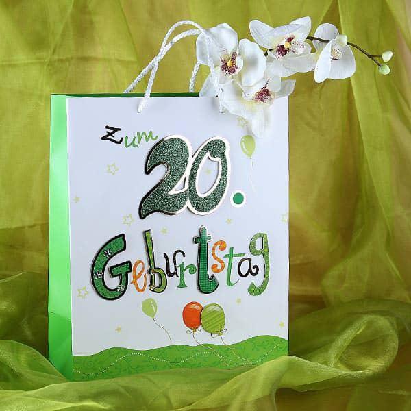 Geschenktüte zum 20. Geburtstag