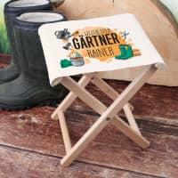 Klapphocker für Gärtner mit Name