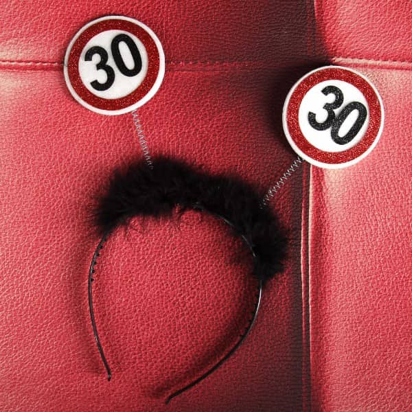 Partyhaarreif Verkehrszeichen 30
