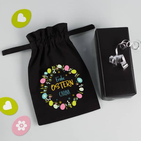 Kleines Geschenksäckchen zu Ostern mit Name, 21 x 14 cm