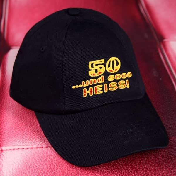 Basecap mit Bestickung zum 50sten Geburtstag