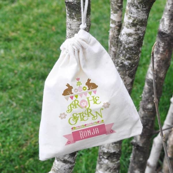 kleiner Geschenksack für Ostern mit Name