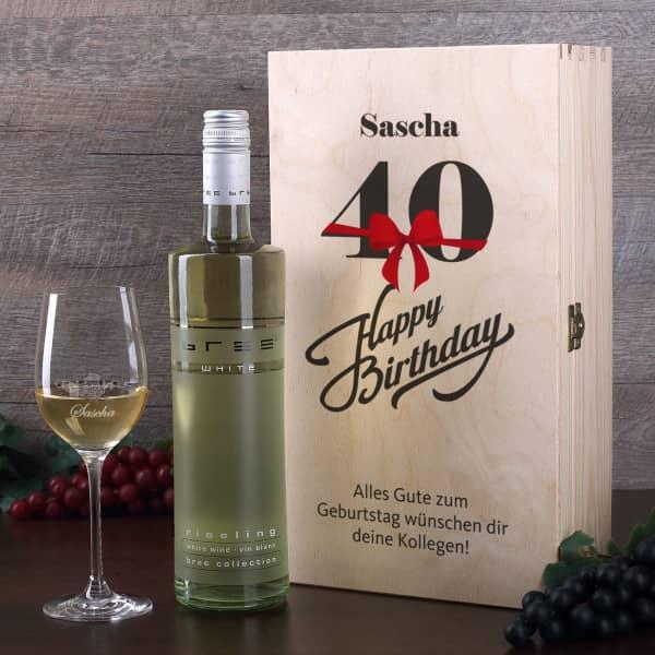 Wein Geschenkset zum 40. Geburtstag