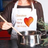 Kochschürze mit Wunschnamen - Herz der Küche