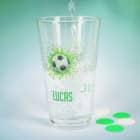 Fußball - Trinkglas mit Name