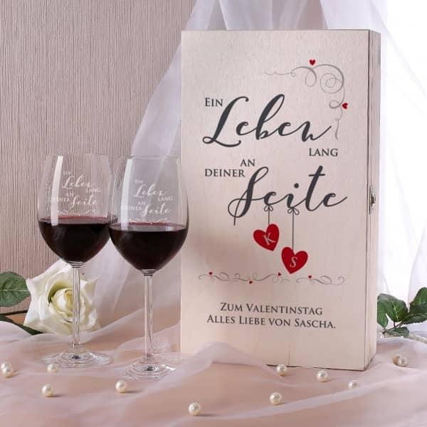 Wein Set - Ein Leben lang an deiner Seite