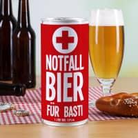 Notfall Bier in der 1 Liter Bierdose mit Namensaufdruck