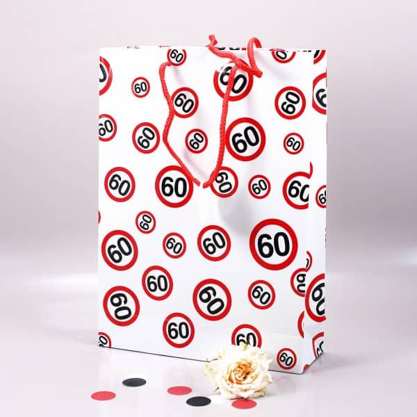 Geschenktasche mit Verkehrszeichen 60