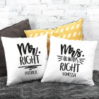 Mr Right & Mrs always Right - Kissen-Set zum Valentinstag