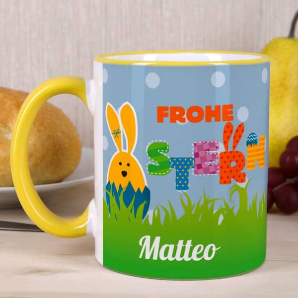 Frohe Ostern Tasse mit Name
