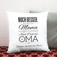 Kissen für die beste Oma mit tollen Spruch und persönlichen Gruß