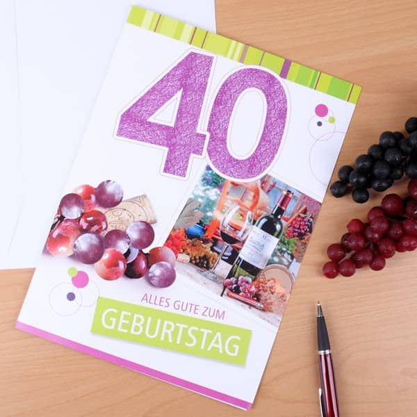 Karte in XL zum 40. Geburtstag