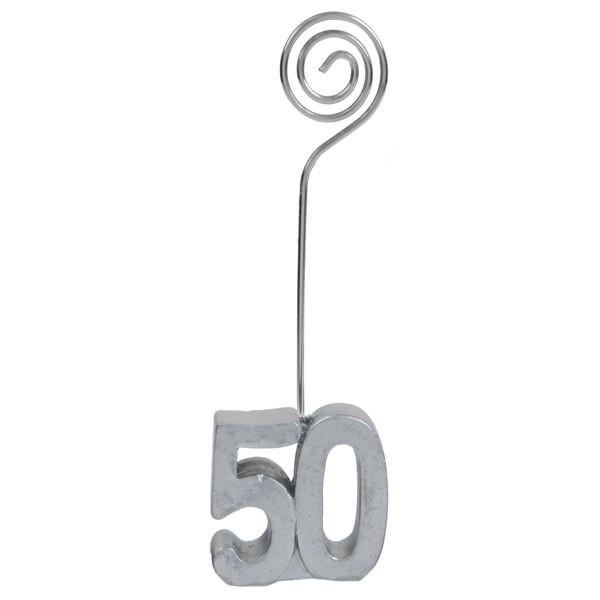 Tischkartenhalter zum 50. Geburtstag