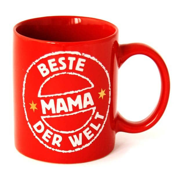 rote Tasse für Mamas