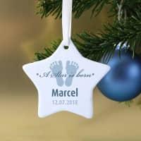 Keramikweihnachtsstern für Jungen A Star is born