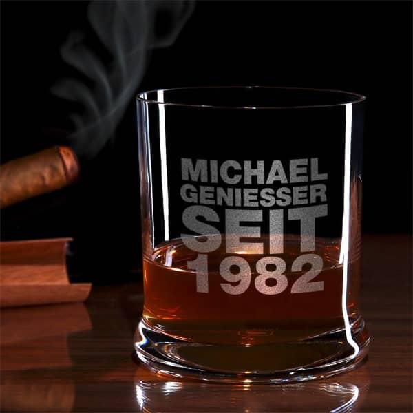 Geniesser Seit Whiskyglas mit Gravur