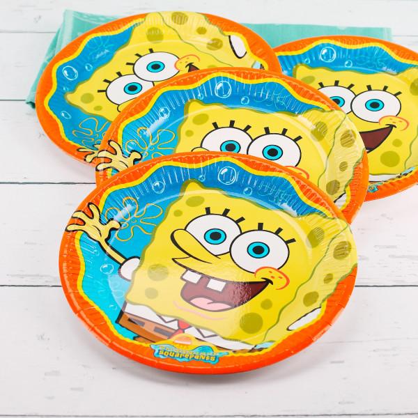 Pappteller Spongebob Schwammkopf 23 cm