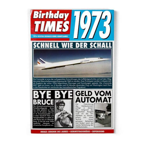 Birthday Times Karte mit Sound 1973