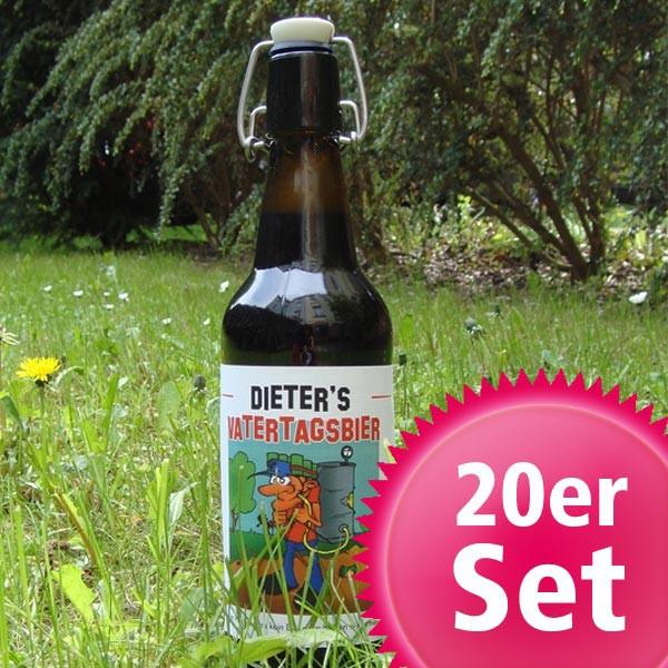 20er Set Bieraufkleber zum Vatertag