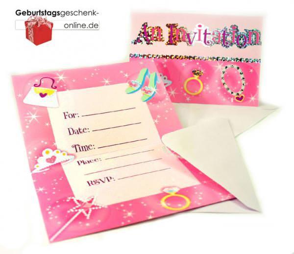 Einladungen zum Kindergeburtstag Princess