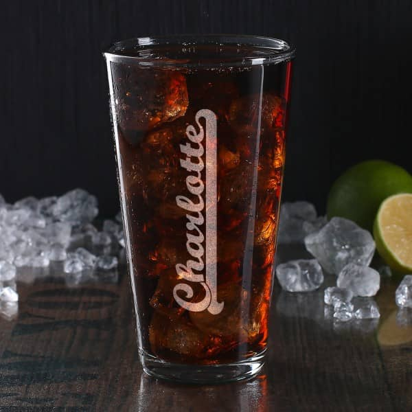 Longdrinkglas mit Wunschnamen
