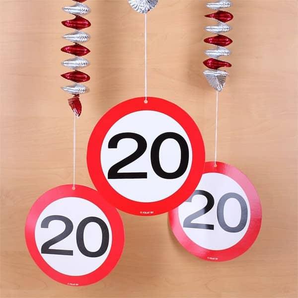 Tolle Geburtstagsdeko zum 20. Geburtstag