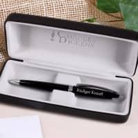 Charles Dickens Kugelschreiber mit Gravur - Sheffield in Schwarz