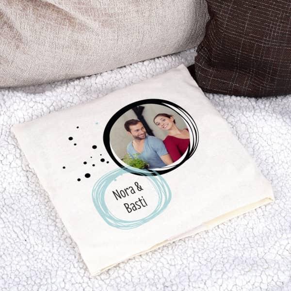 Persönliches Kirschkernkissen mit Ihrem Foto und Wunschtext