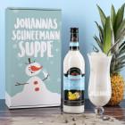 Schneemannsuppe - Pina Colada Geschenkset mit Ihrem Wunschnamen