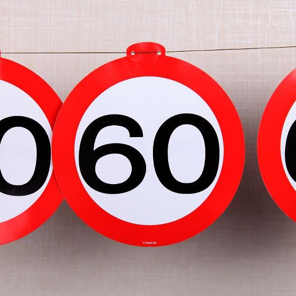 Wimpelkette - Verkehrschild 60