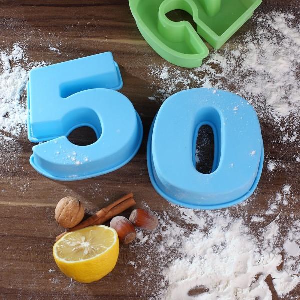 Backform zum 50. Geburtstag, blau
