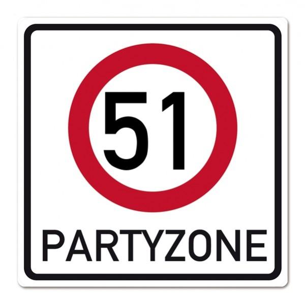 Verkehrsschild aus PVC zum 51. Geburtstag