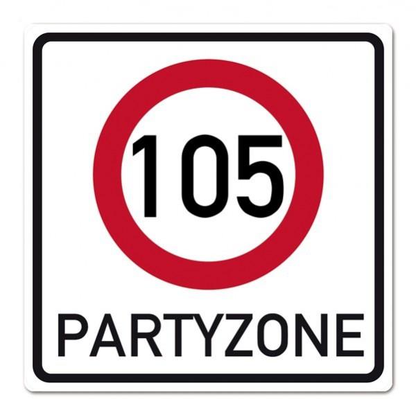 PVC-Banner zum 105. Geburtstag