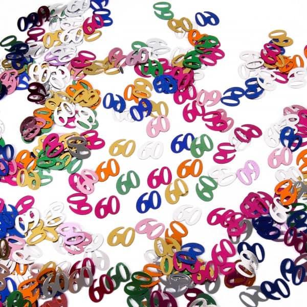 Zahlenkonfetti zum 60. Geburtstag