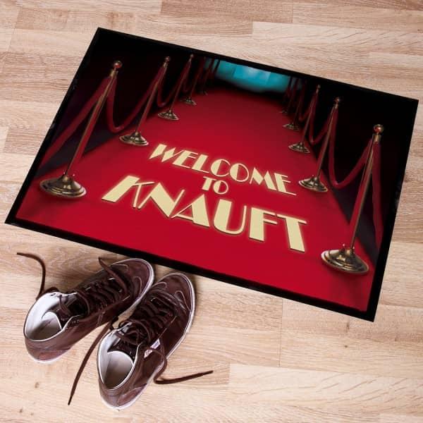Fussabtreter *Roter Teppich* mit Wunschname