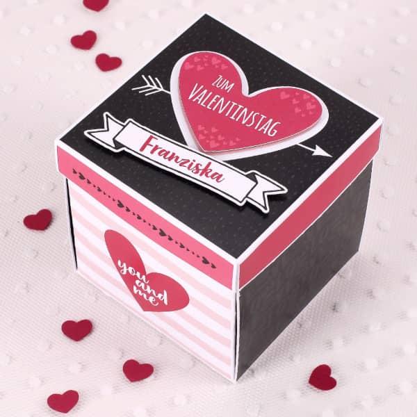Überraschungsbox zum Valentinstag für Gutscheine und romantische Wünsche - Valentinstag Geschenke für Männer