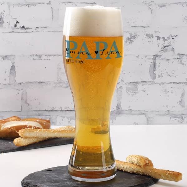 Weizenbierglas für den besten Papa