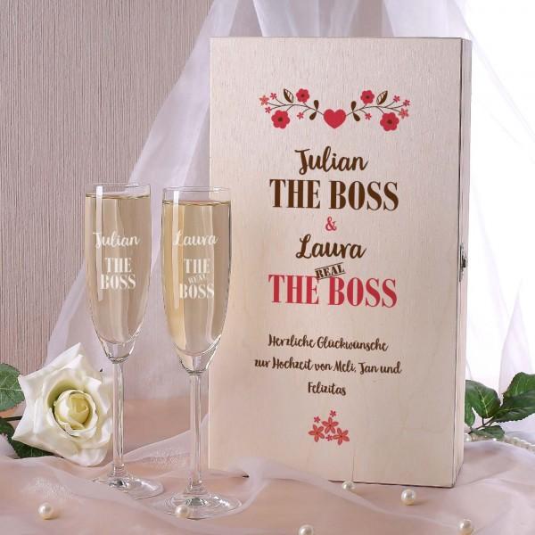 The Boss, The Real Boss Geschenkset zur Hochzeit