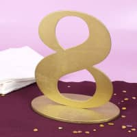 Goldene Dekozahl 8