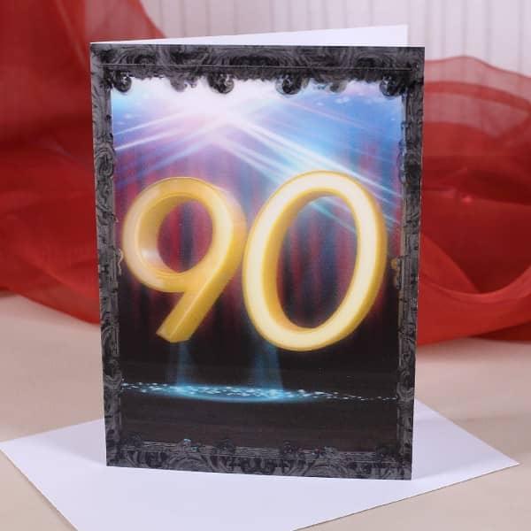 Wackelkarte zum 90. Geburtstag