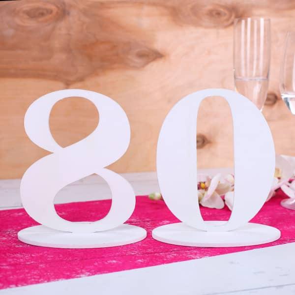 Tischnummer 80 für Geburtstag