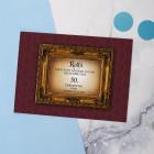 Geburtstagskarte personalisiert und antik