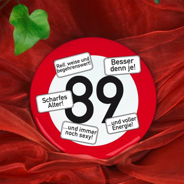 Button zum 89. Geburtstag